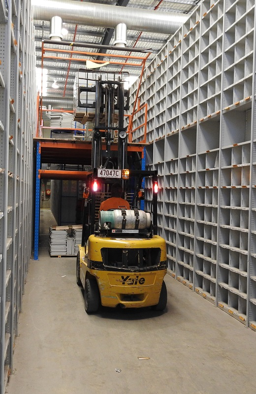 Correct installs relocating some pallet racking for a client in Brisbane